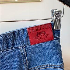 Fiorucci skinny Midi jean pencil skirt
